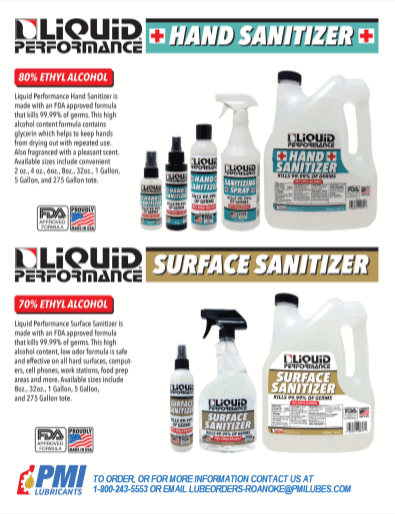 PMI Lubricants Hand Sanitizer COVID-19 Products image